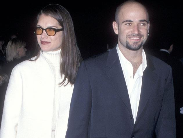 Brooke Shields married tennis star Andre Agassi in 1997, after dating for four years. They called it quits in April 1999.