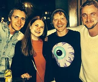 Tom Felton reunites with Harry Potter cast