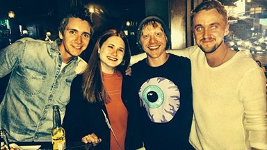 Tom Felton reunites with Harry Potter cast