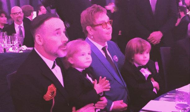 *Elton and David with their children Zachary and Elijah*