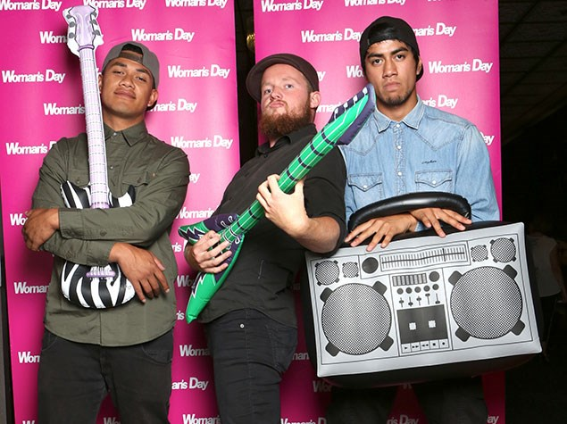 The boys get silly at the X Factor VIP party.