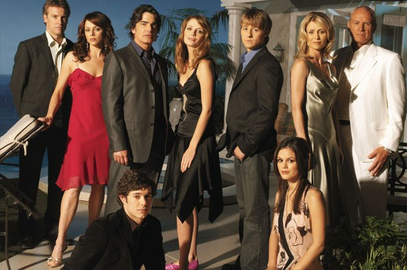 Mischa with the rest of The O.C. cast