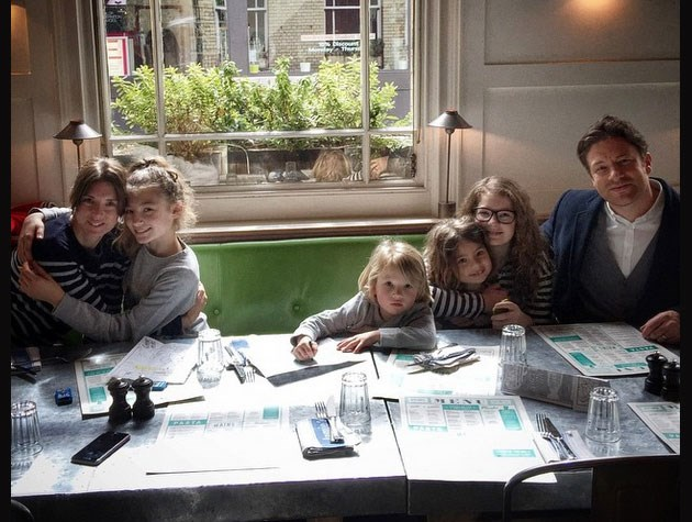 Celeb chef Jamie Oliver has four children with wife Juliette Norton. Their names are Daisy Boo Pamela, Buddy Bear Maurice, Petal Blossom Rainbow and Poppy Honey Rosie.  See the happy parents of Daisy, Buddy and Petal discuss their next baby in the video on the next slide.