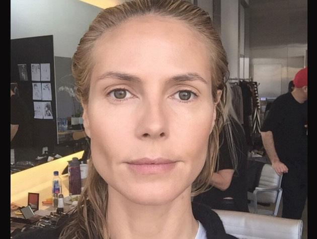 Heidi Klum shared this 'before' picture on her Instagram...