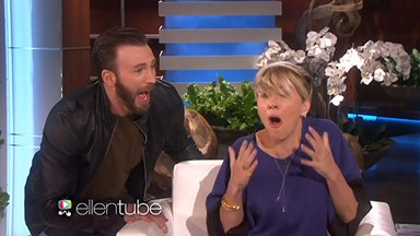 Watch Chris Evans scare Scarlett Johansson!