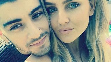 Zayn Malik cuddles up to fiancee Perrie Edwards