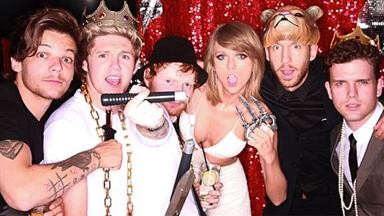 Taylor Swift parties with One Direction - minus ex Harry Styles!