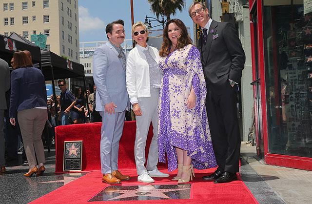 L-R: Ben Falcone, Melissa McCarthy, Ellen DeGeneres and Paul Feig.