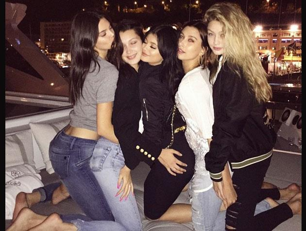 Kendall's sister Kylie joined in the celebrations later as the girls partied the night away on a luxury yacht.